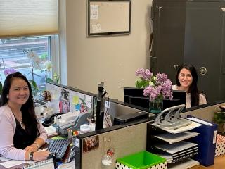 Tax Collector Halaree Monerat and Assistant Tax Collector Ashley Kelsey
