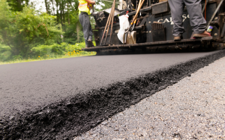 Department of Public Works Paving Town Roads through Fall